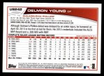 2013 Topps Update #242  Delmon Young  Back Thumbnail