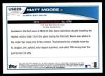 2013 Topps Update #228   -  Matt Moore All-Star Back Thumbnail