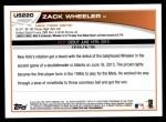 2013 Topps Update #220  Zack Wheeler  Back Thumbnail