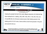 2013 Topps Update #218   -  Miguel Cabrera All-Star Back Thumbnail