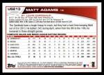 2013 Topps Update #213  Matt Adams  Back Thumbnail