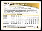 2013 Topps Update #203  Russell Martin  Back Thumbnail