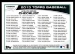 2013 Topps Update #202   -  Yoenis Cespedes Record Chase: Home Run Derby Champ Back Thumbnail