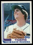 1982 Topps #319  Dave Rozema  Front Thumbnail