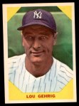 1960 Fleer #28  Lou Gehrig  Front Thumbnail