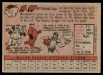 1958 Topps #427  Al Worthington  Back Thumbnail