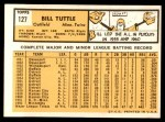 1963 Topps #127  Bill Tuttle  Back Thumbnail
