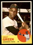 1963 Topps #198  Lenny Green  Front Thumbnail