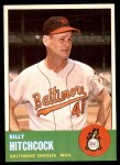 1963 Topps #213  Billy Hitchcock  Front Thumbnail