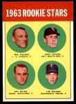 1963 Topps #496   -  Jack Smith / Carl Bouldin / Steve Dalkowski / Fred Newman Rookies   Front Thumbnail