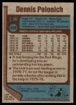 1977 Topps #228  Dennis Polonich  Back Thumbnail