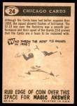 1959 Topps #24   Cardinals Pennant Back Thumbnail