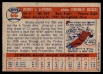 1957 Topps #66  Brooks Lawrence  Back Thumbnail