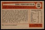 1954 Bowman #24  Bob Porterfield  Back Thumbnail