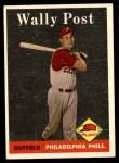 1958 Topps #387  Wally Post  Front Thumbnail