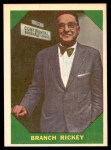 1960 Fleer #55  Branch Rickey  Front Thumbnail