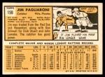 1963 Topps #159  Jim Pagliaroni  Back Thumbnail