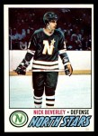 1977 Topps #198  Nick Beverley  Front Thumbnail