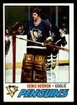 1977 Topps #119  Denis Herron  Front Thumbnail
