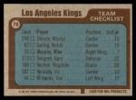 1977 Topps #78   Kings Team Checklist Back Thumbnail