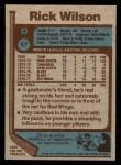 1977 Topps #57  Rick Wilson  Back Thumbnail