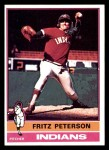 1976 Topps #255  Fritz Peterson  Front Thumbnail