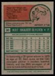1975 Topps #30  Bert Blyleven  Back Thumbnail