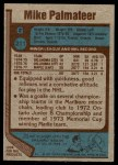 1977 Topps #211  Mike Palmateer  Back Thumbnail