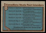 1977 Topps #262   Stanley Cup Semi-Finals - Canadiens Skate Past Islanders Back Thumbnail