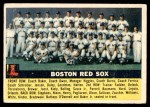 1956 Topps #111 GRY  Red Sox Team Front Thumbnail