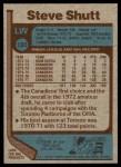 1977 Topps #120  Steve Shutt  Back Thumbnail