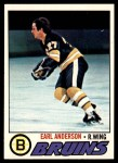 1977 Topps #114  Earl Anderson  Front Thumbnail