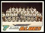 1977 Topps #85   Blues Team Checklist Front Thumbnail
