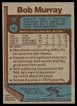 1977 Topps #12  Bob Murray  Back Thumbnail
