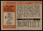 1972 Topps #139  Bill Flett  Back Thumbnail