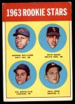 1963 Topps #324   -  Pete Ward / Vic Davalillo / Phil Roof / George Williams Rookies   Front Thumbnail