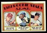 1972 Topps #741   -  Tom Hutton / Rick Miller / John Milner AL - NL Rookies Front Thumbnail
