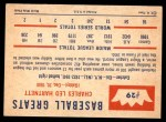 1960 Fleer #29  Gabby Hartnett  Back Thumbnail