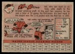 1958 Topps #381  Hal Brown  Back Thumbnail