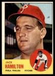 1963 Topps #132  Jack Hamilton  Front Thumbnail