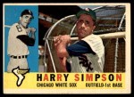 1960 Topps #180  Harry Simpson  Front Thumbnail