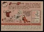 1958 Topps #414  Sammy White  Back Thumbnail
