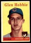 1958 Topps #467  Glen Hobbie  Front Thumbnail