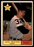 1961 Topps #386  Joe Hicks  Front Thumbnail