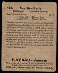 1939 Play Ball #152  Roy Weatherly  Back Thumbnail