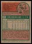 1975 Topps #97  Earl Williams  Back Thumbnail