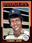 1975 Topps #47  Tommy John  Front Thumbnail