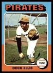 1975 Topps Mini #385  Doc Ellis  Front Thumbnail