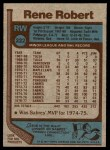 1977 Topps #222  Rene Robert  Back Thumbnail