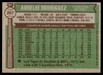 1976 Topps #267  Aurelio Rodriguez  Back Thumbnail